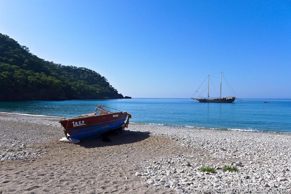 plage bateau voie lycienne randonnée en turquie