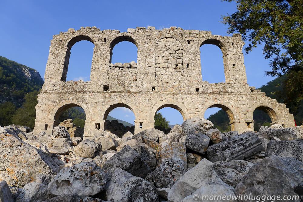 ruines voie lycienne randonnée en turquie