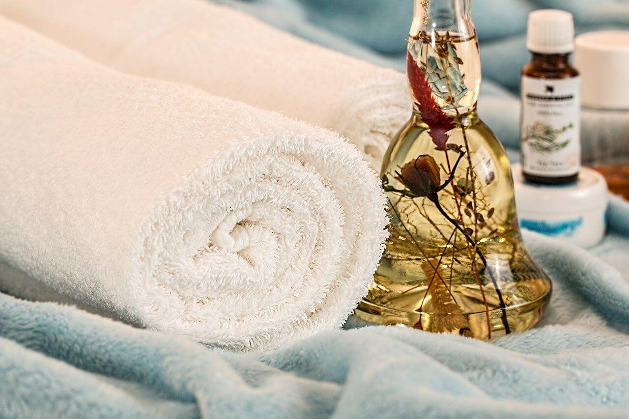 serviettes huile spa