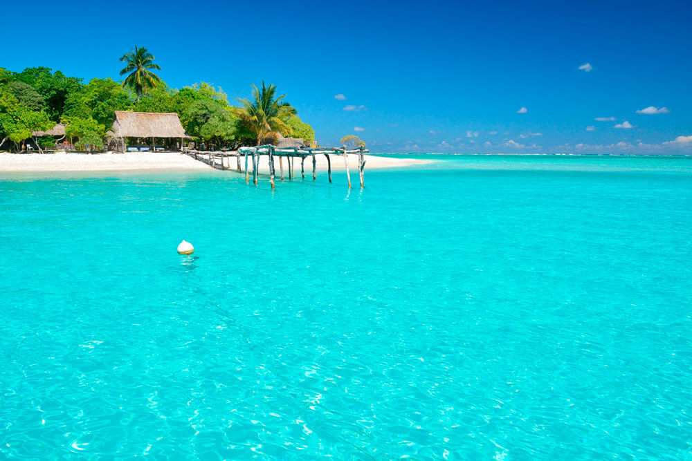 plage eau turquoise cocotier visiter kiribati