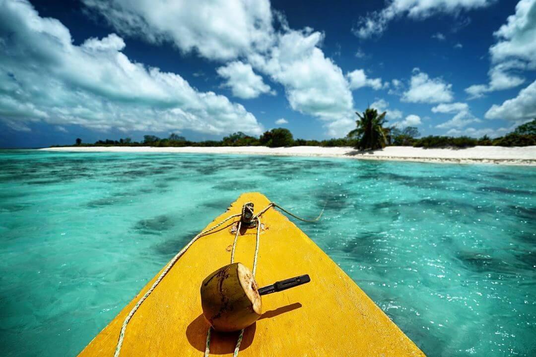 kayak lagon ile coco visiter kiribati