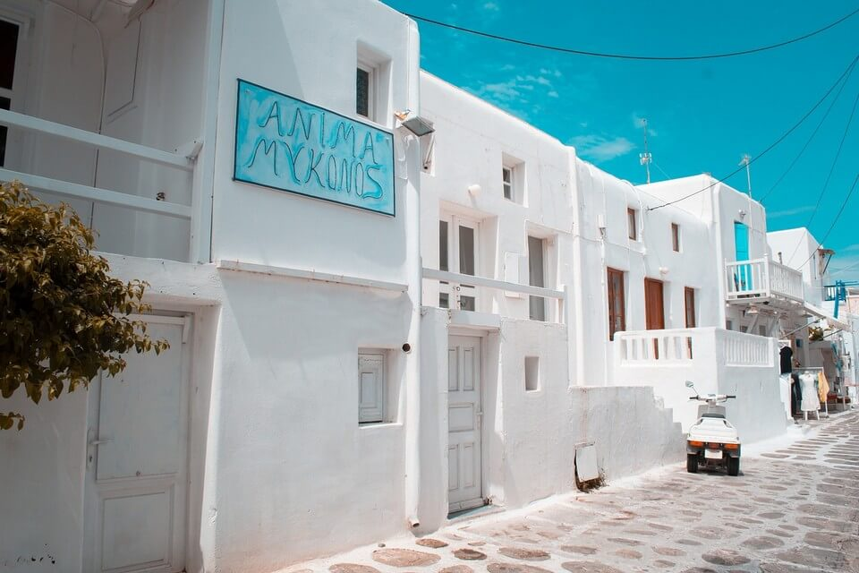 ruelles blanches mykonos cyclades grece destination printemps
