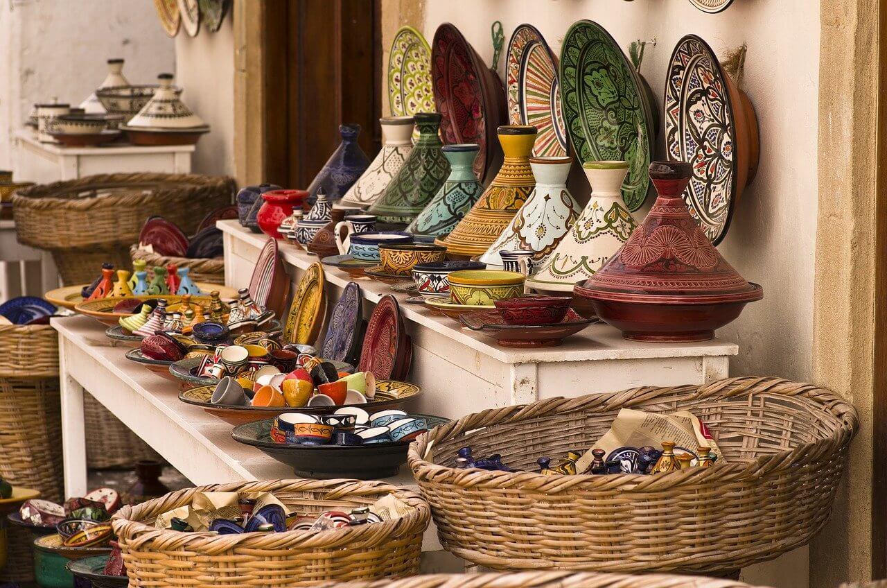 souk tajine plat poterie vacances en resort au maroc