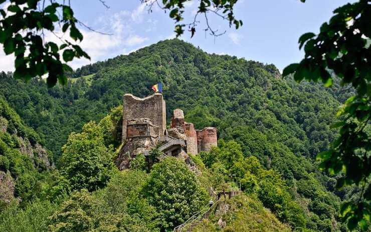 point de vue citadelle poenari vrai château de Dracula