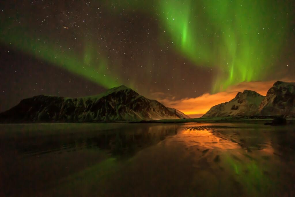 Finnmark en hiver pour admirer les superbes aurores boréales.