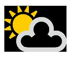 Soleil et partiellement nuageux