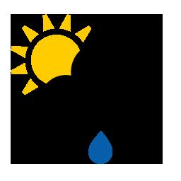 Pluie légère et soleil