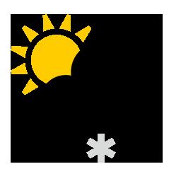 Faibles chutes de neige partiellement