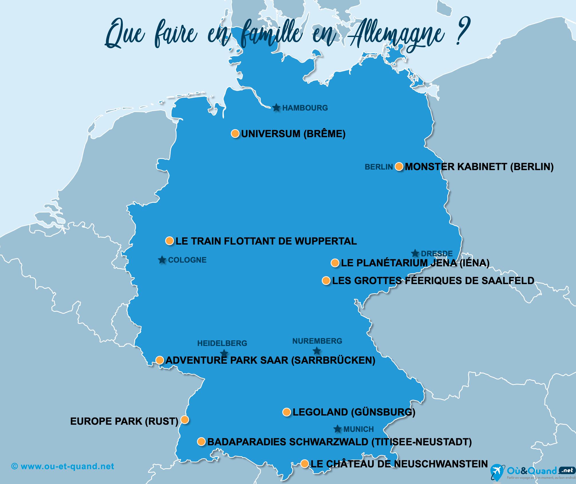 Carte Allemagne : L'Allemagne en famille