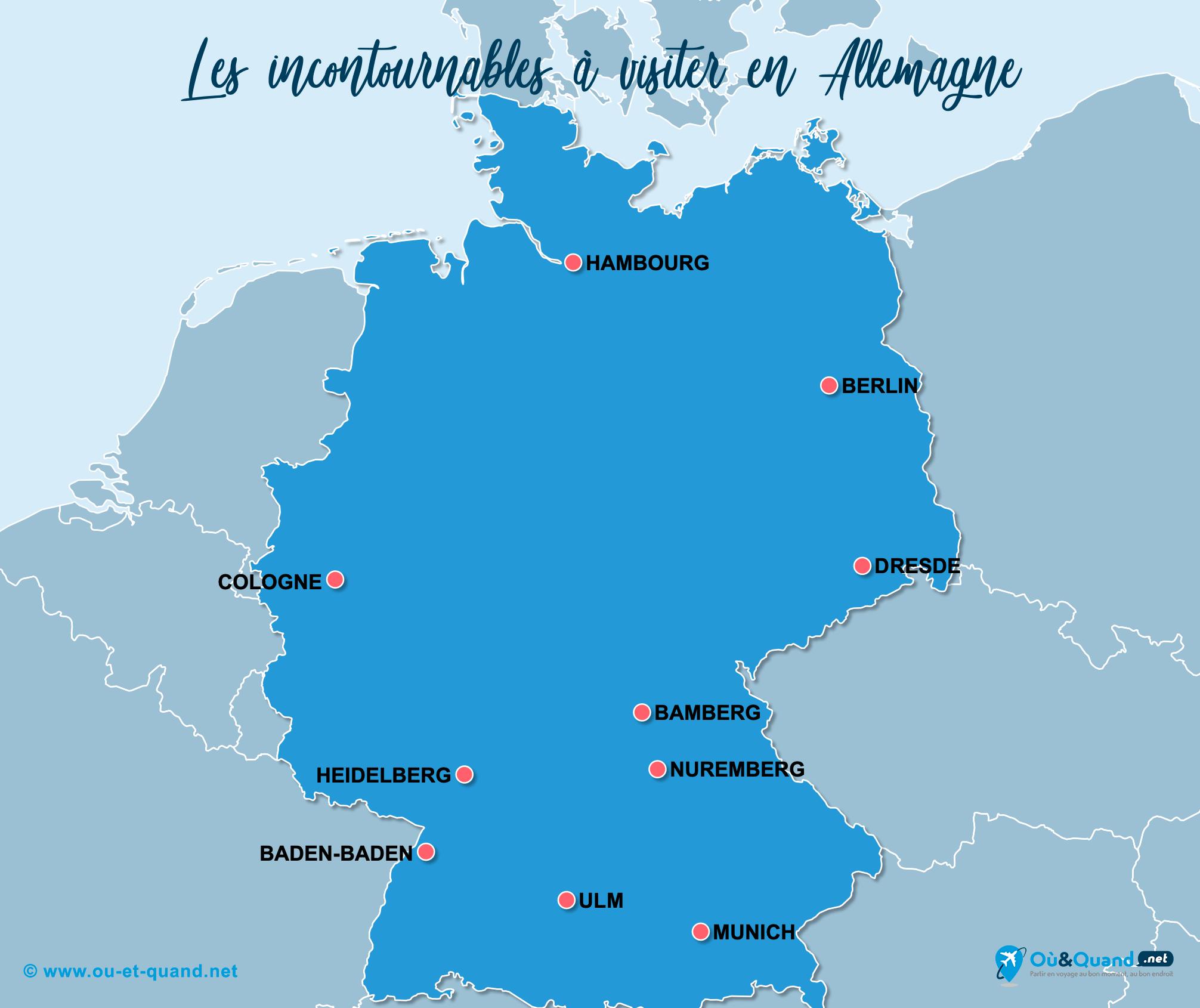 Carte Incontournables Allemagne