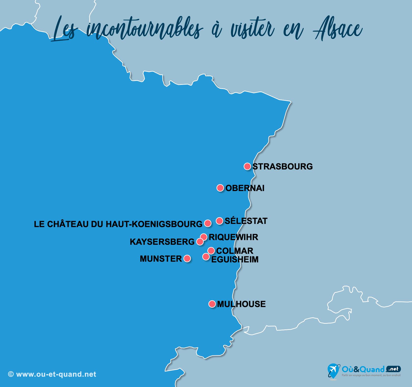 Carte Incontournables Alsace