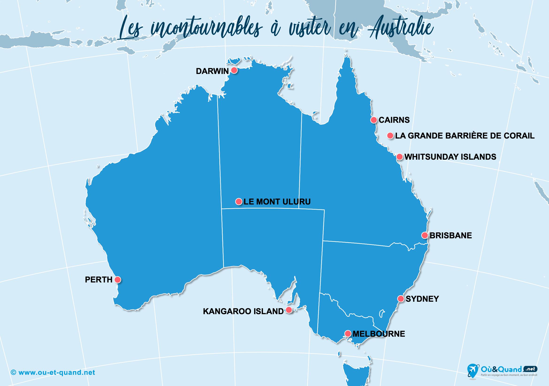 Carte Incontournables Australie