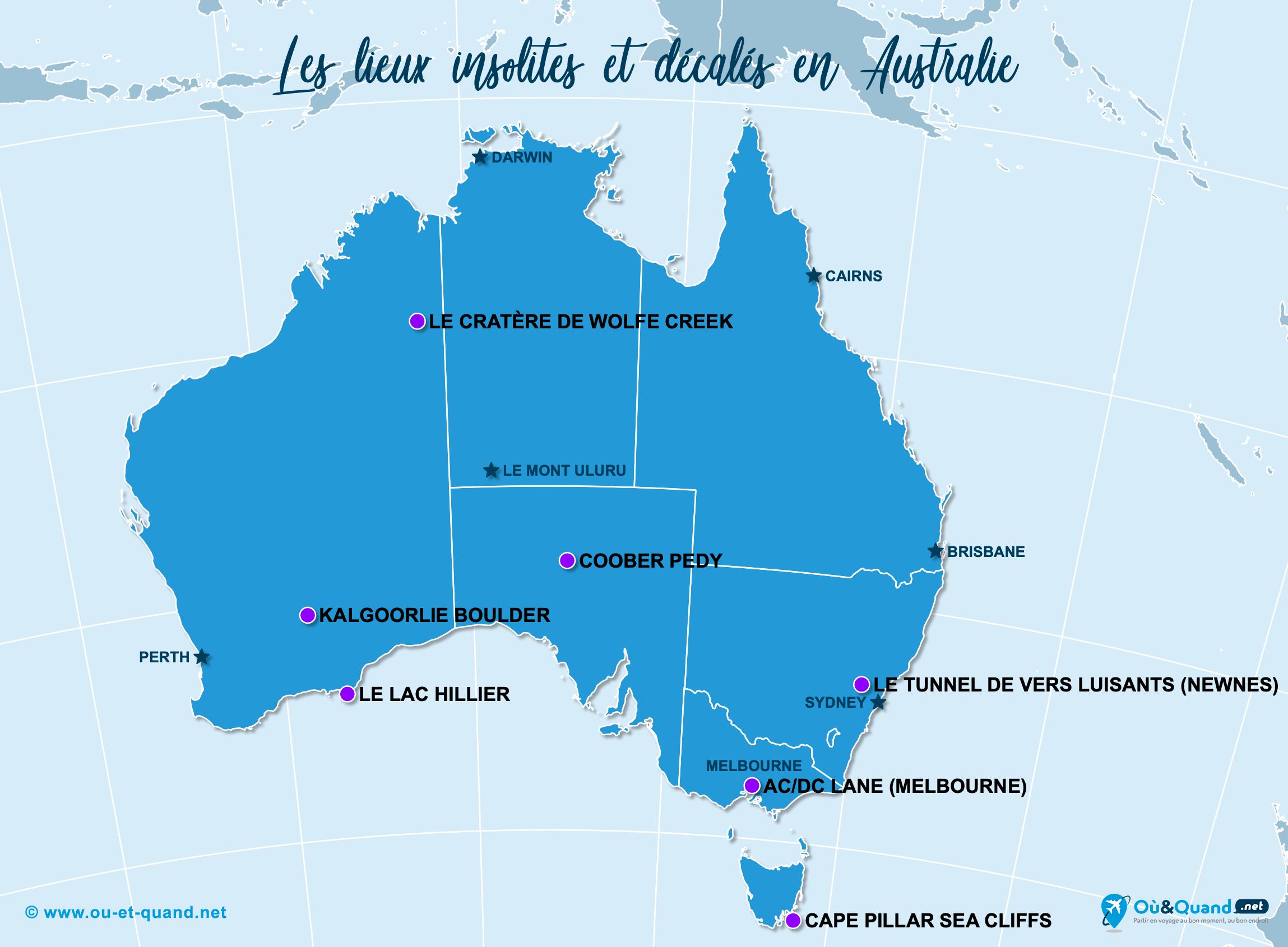 Carte Australie : L'Australie insolite