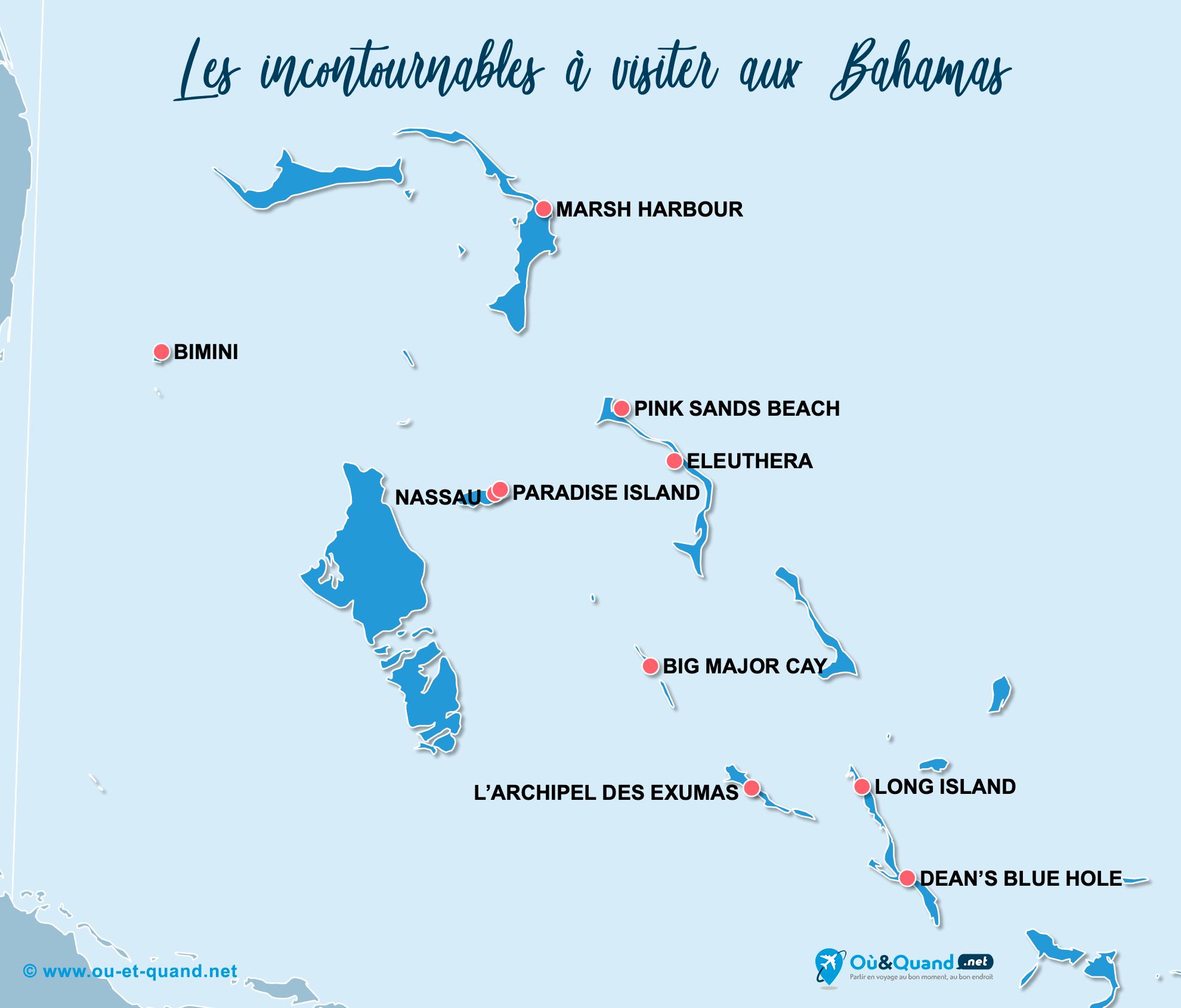 Carte Incontournables Bahamas
