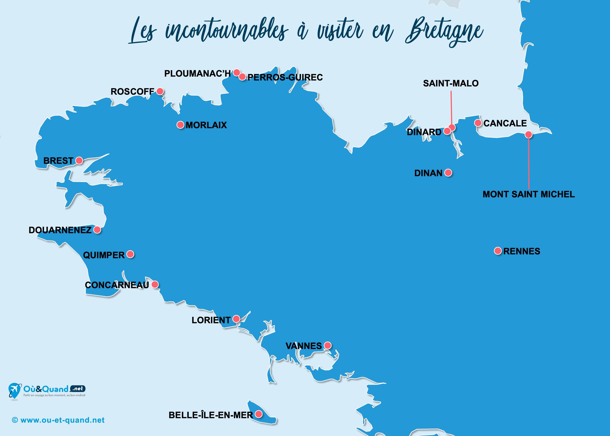 Carte Incontournables Bretagne