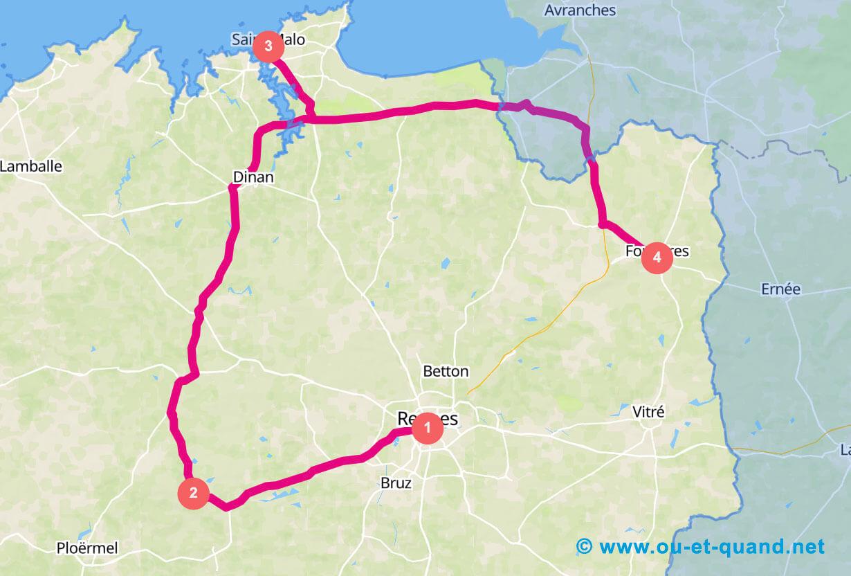 Itinéraire de 3 jours en Bretagne : le nord