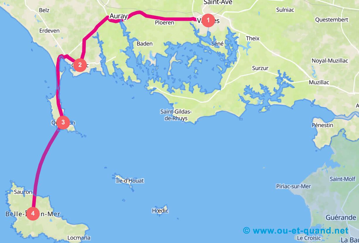 Itinéraire de 3 jours en Bretagne : le sud
