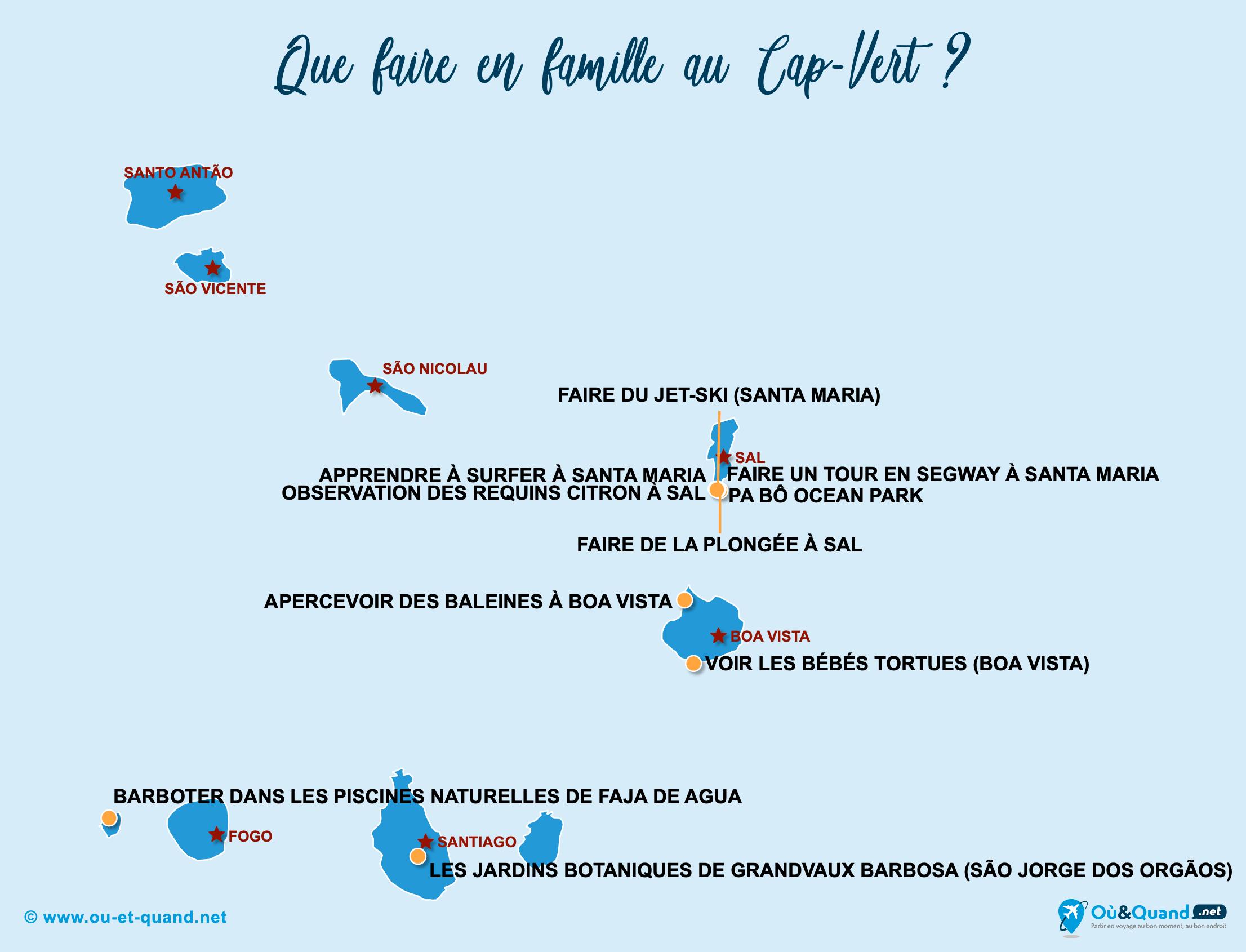 Carte Cap-Vert : Le Cap-Vert en famille