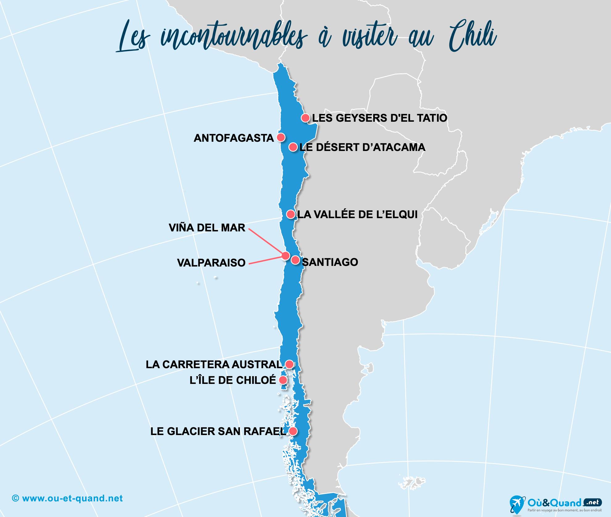 Carte Incontournables Chili