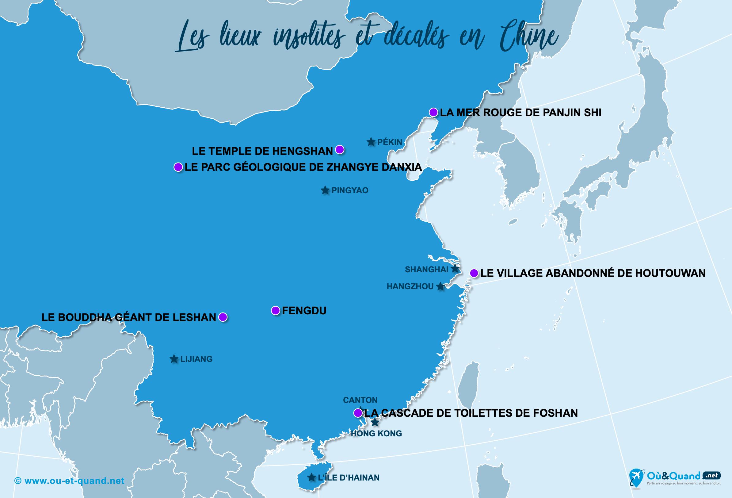 Carte Chine : La Chine insolite
