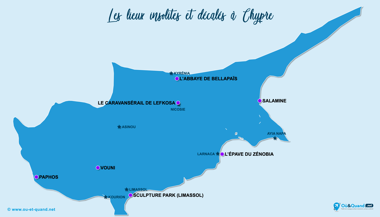 Carte Chypre : Chypre insolite