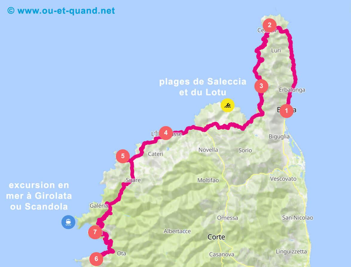 Itinéraire de 1 semaine en Haute-Corse