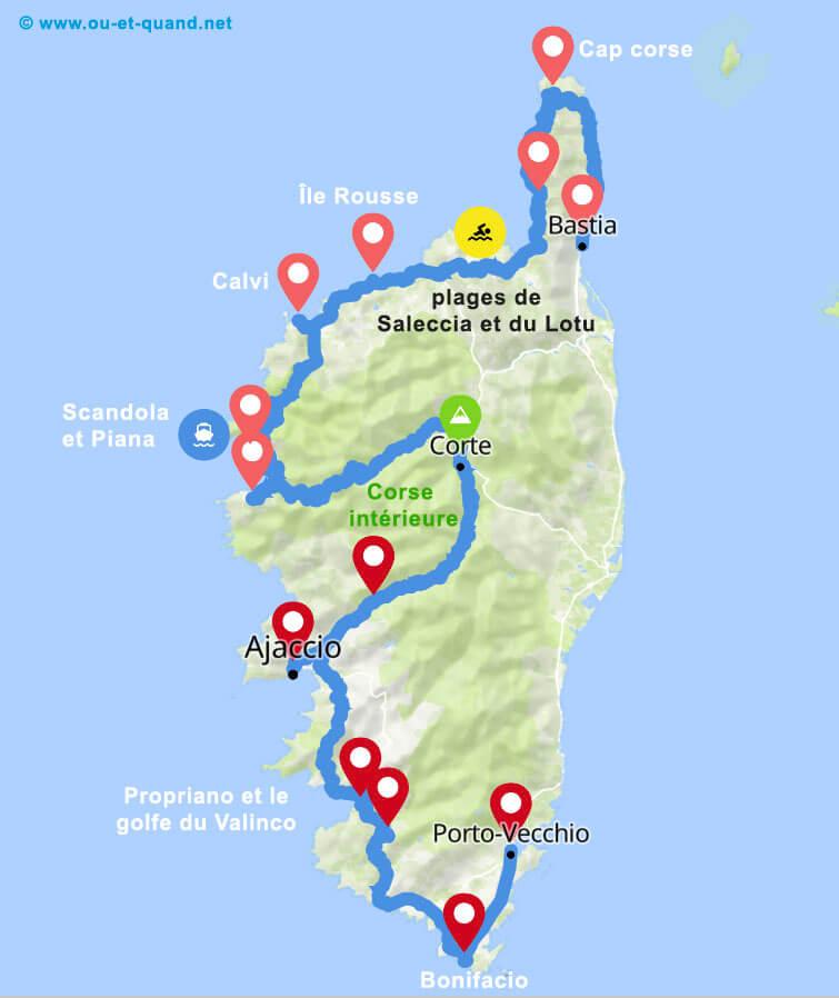 Itinéraire de 3 semaines en Corse