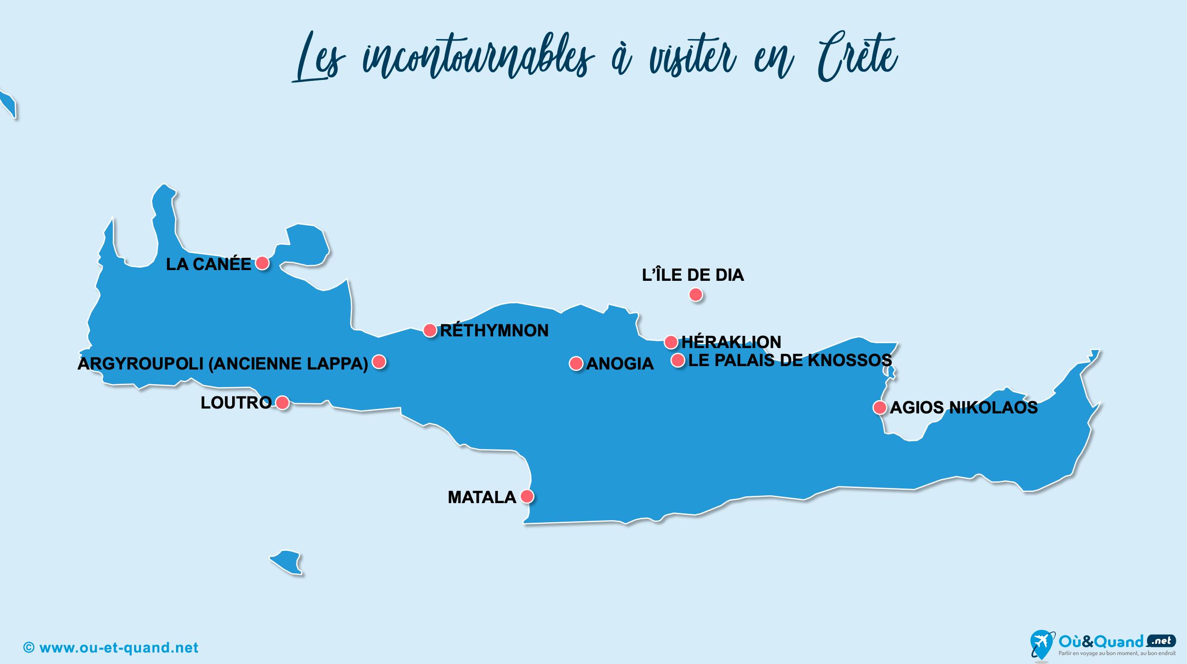 Carte Incontournables Crète