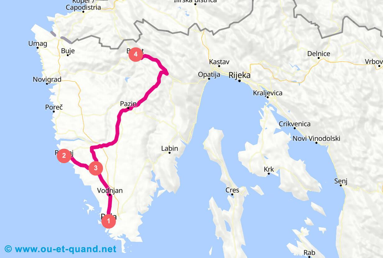 Itinéraire de 1 semaine en Croatie : la péninsule d'Istrie