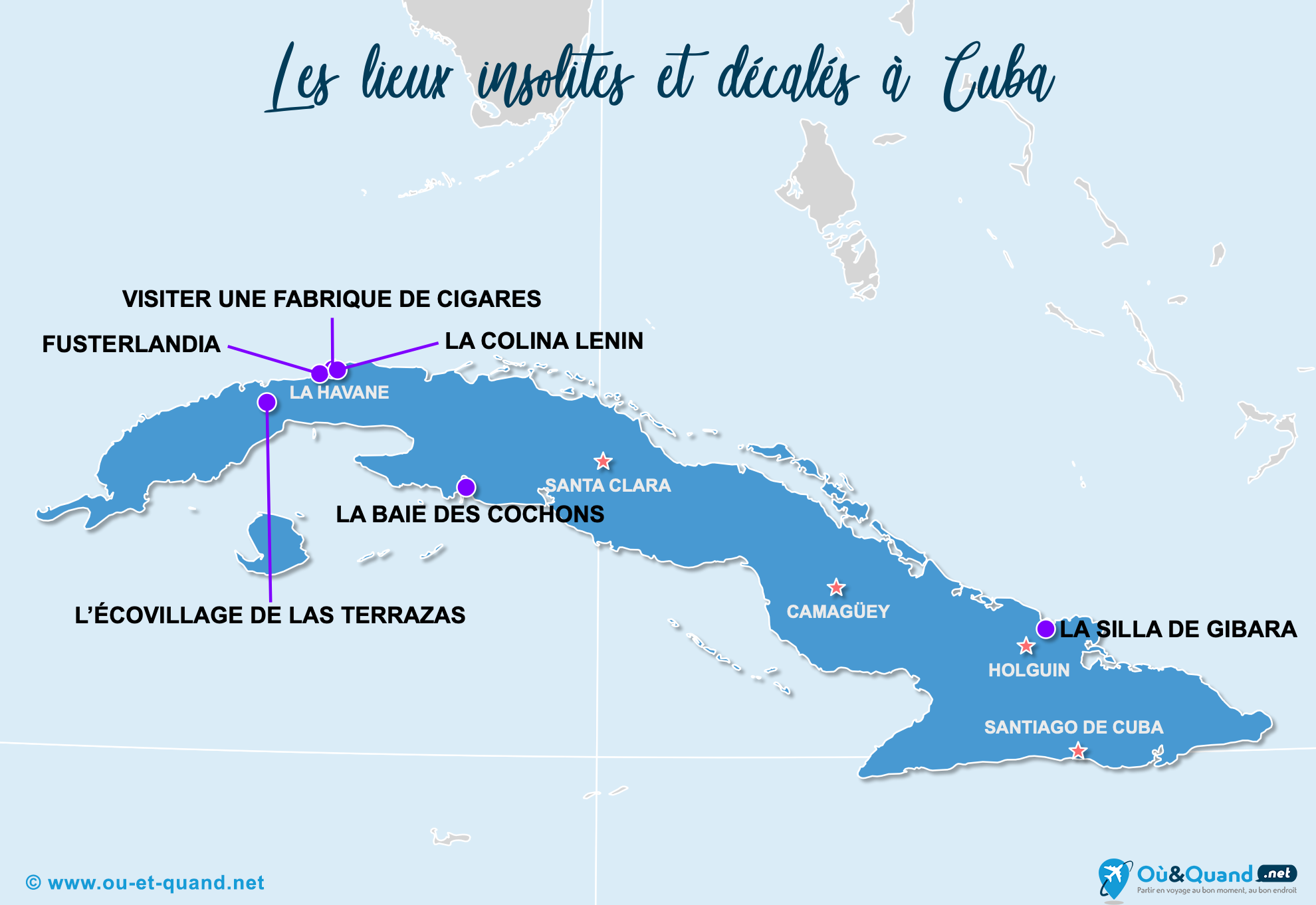 Carte Cuba : Cuba insolite