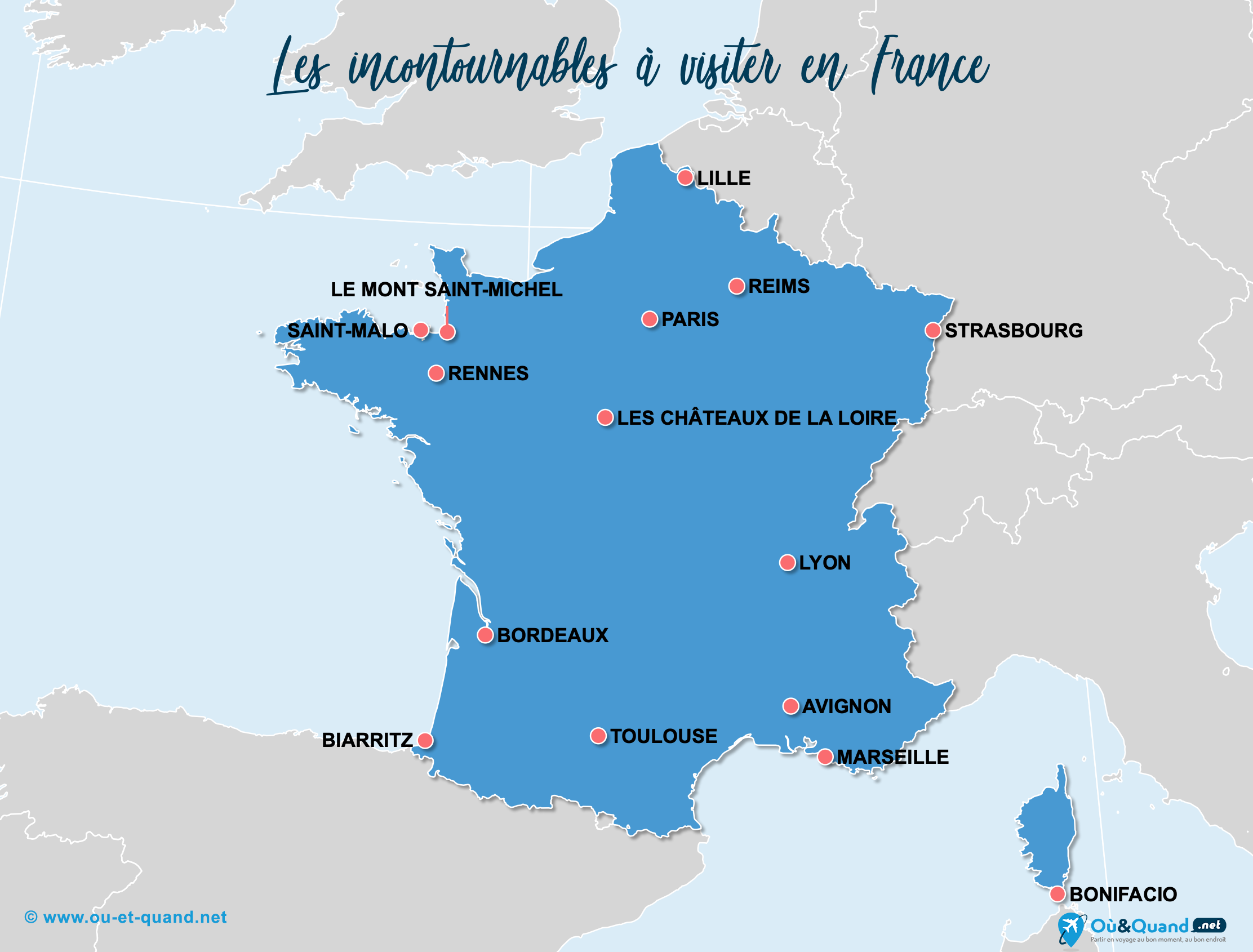 Carte Incontournables France