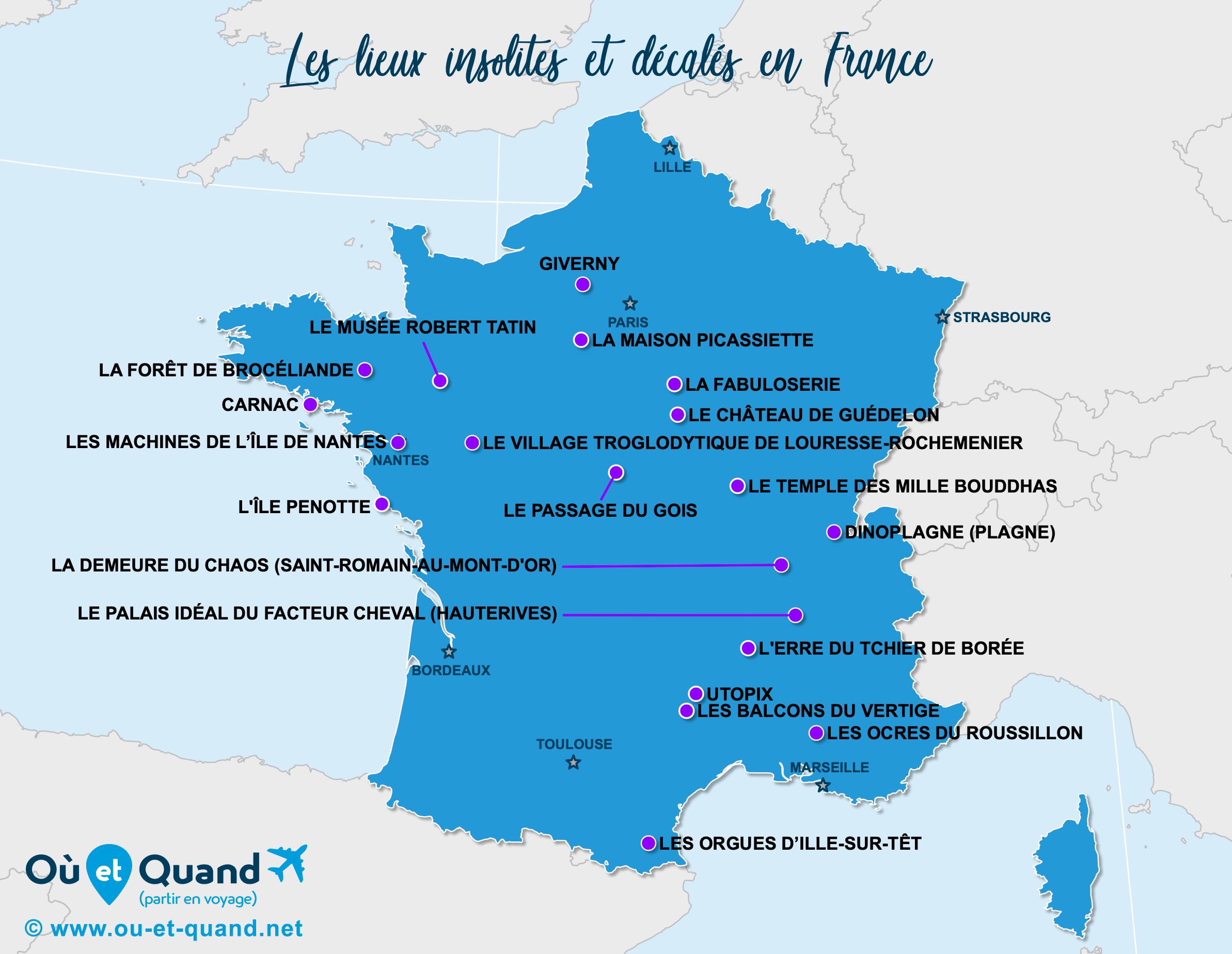 Carte France : La France insolite