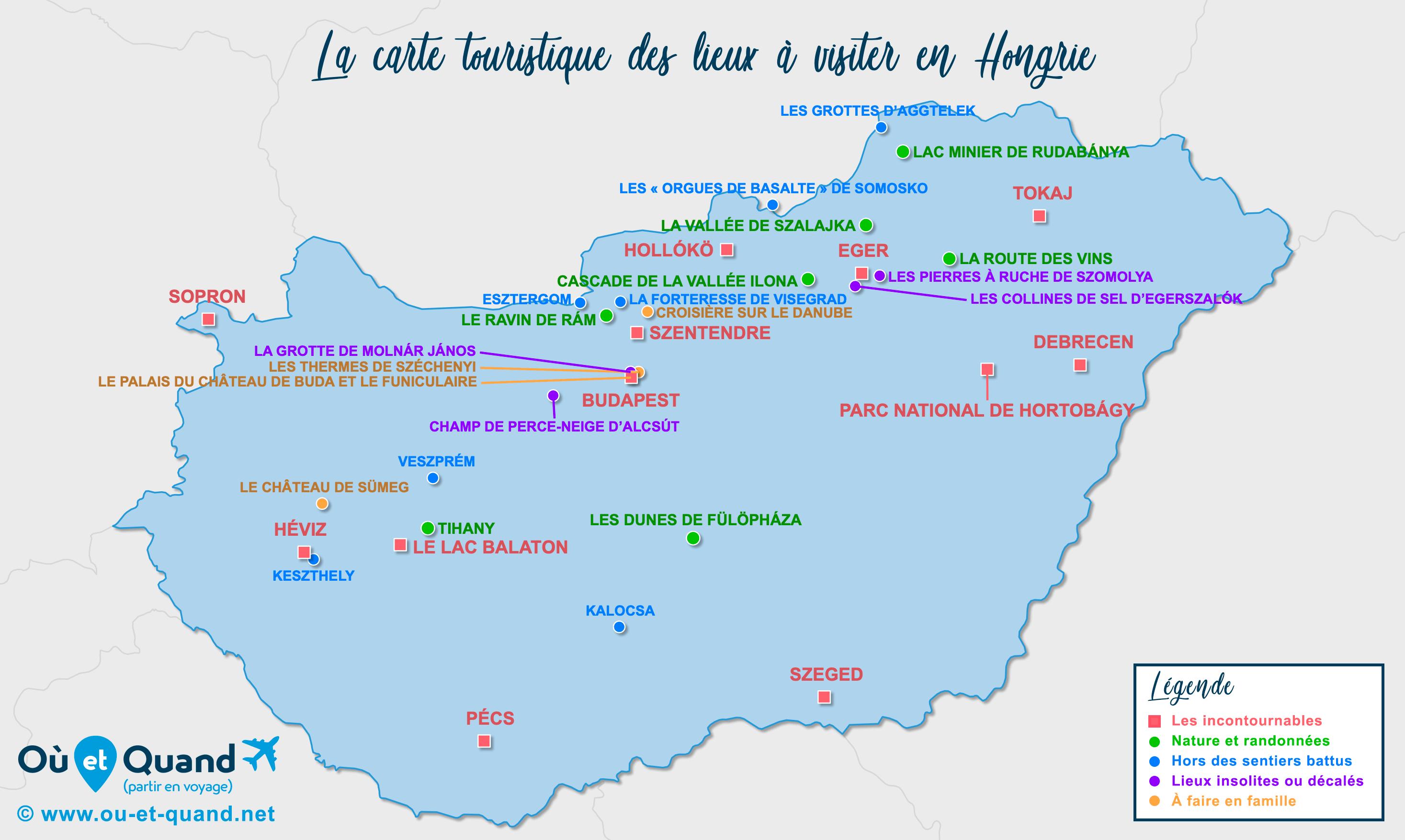 Carte Hongrie : tous les lieux à visiter lors de votre voyage