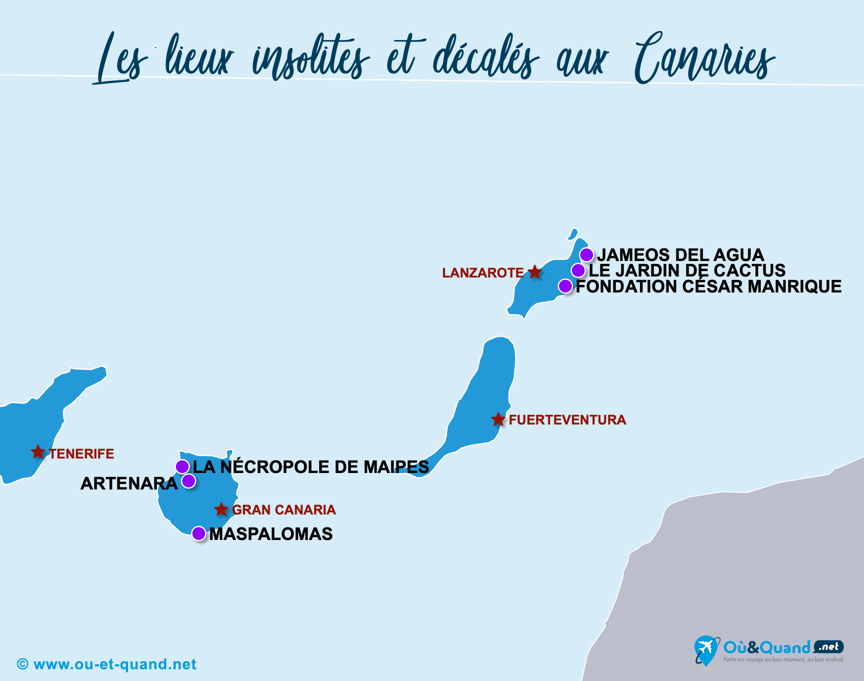 Carte Canaries : Les Canaries insolite