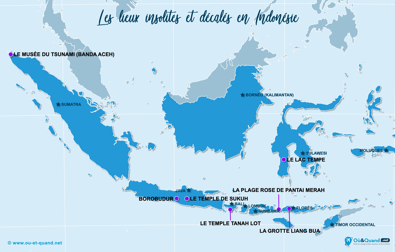 Carte Indonésie : L'Indonésie insolite