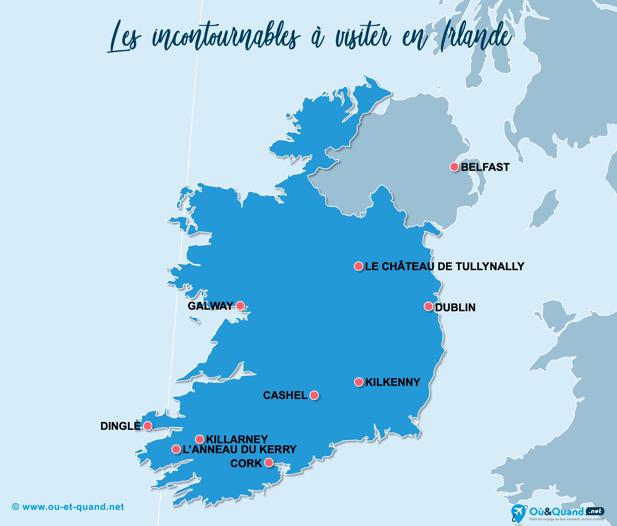 Carte Incontournables Irlande (Éire)