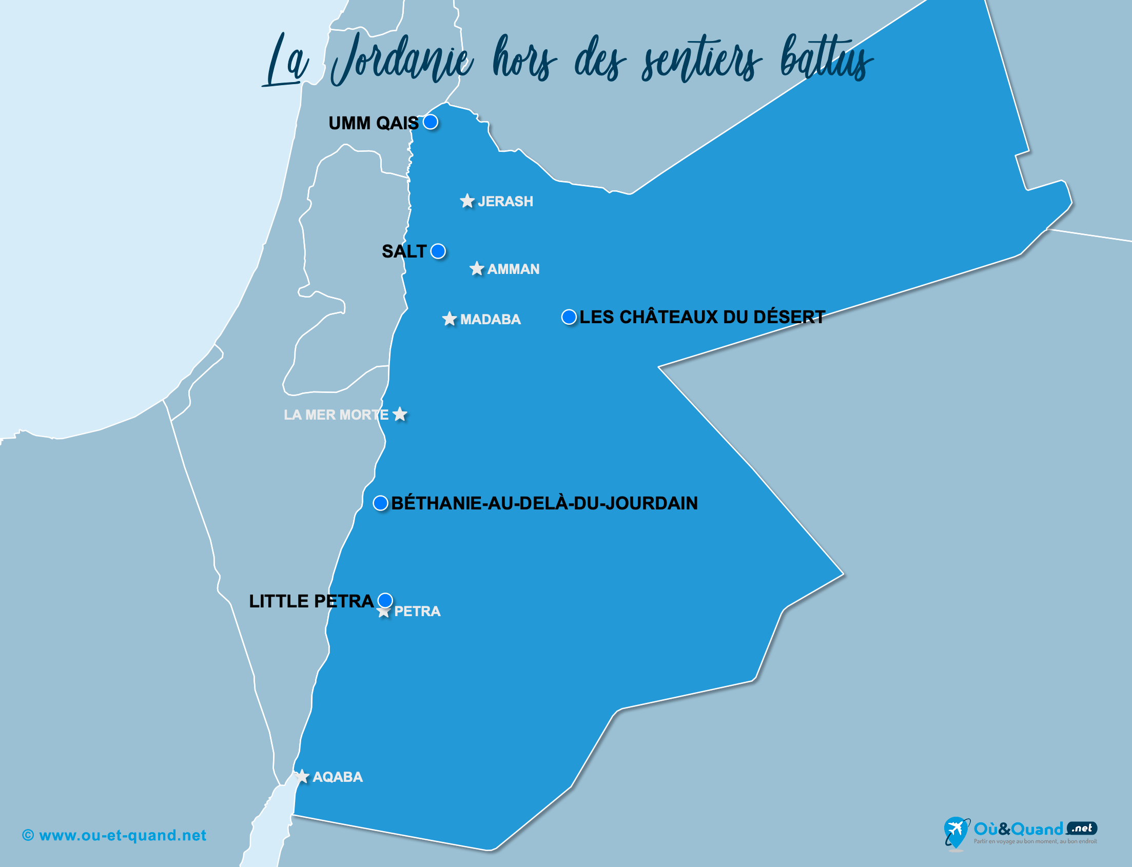 Carte Jordanie : La Jordanie hors des sentiers battus