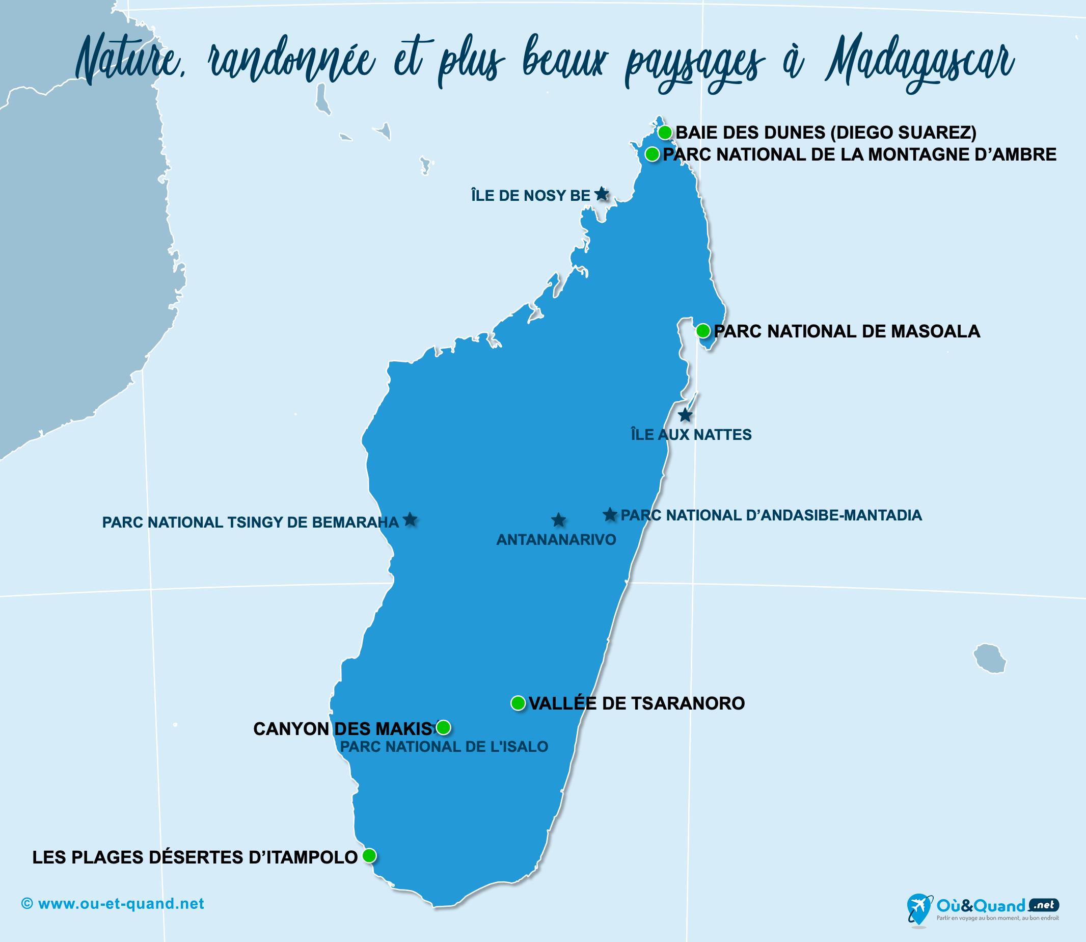 Carte Madagascar : Les plus beaux paysages de Madagascar