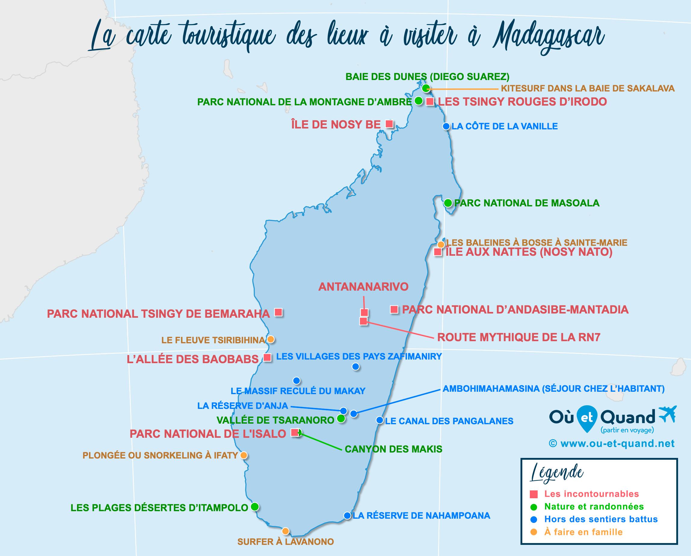 Carte Madagascar : tous les lieux à visiter lors de votre voyage