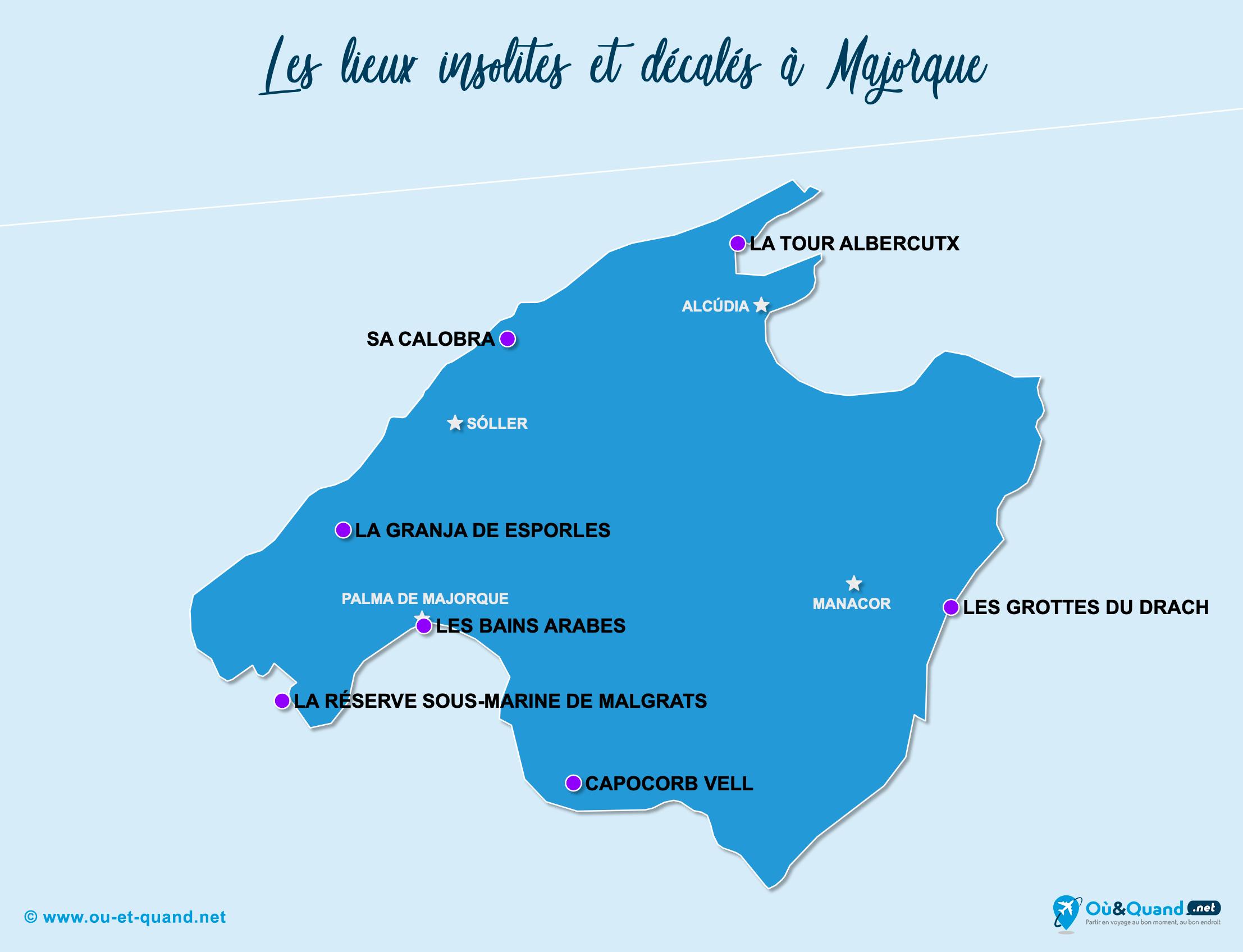 Carte Majorque : Majorque insolite