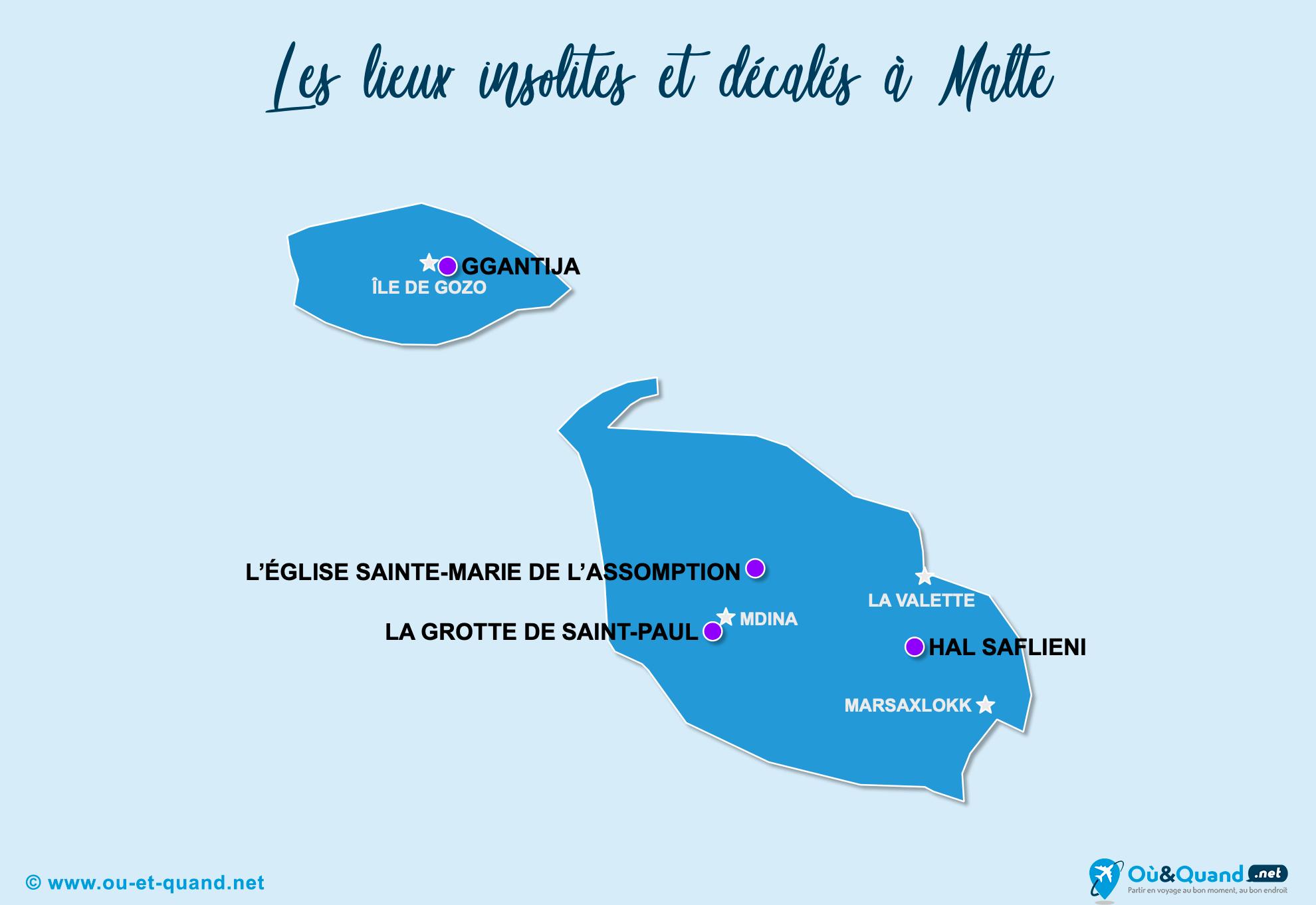 Carte Malte : Malte insolite