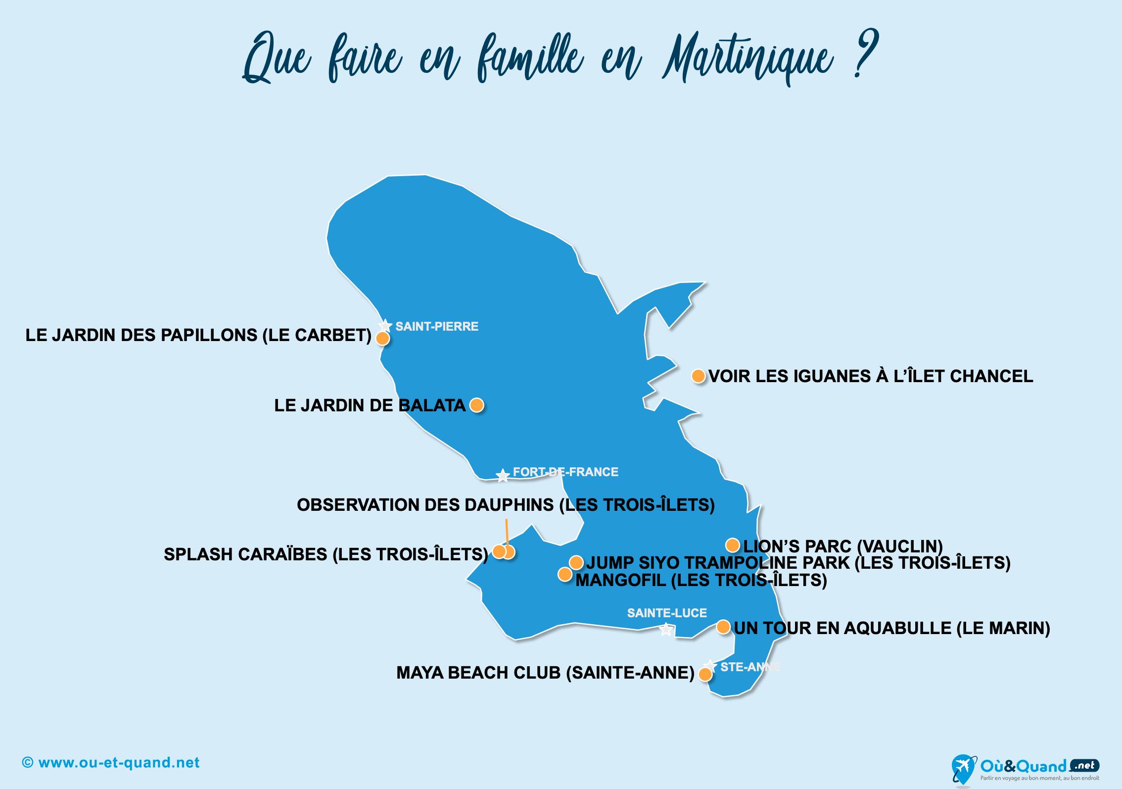 Carte Martinique : La Martinique en famille