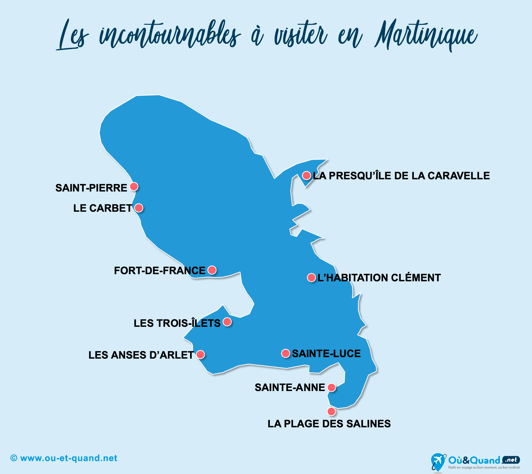 Carte Incontournables Martinique