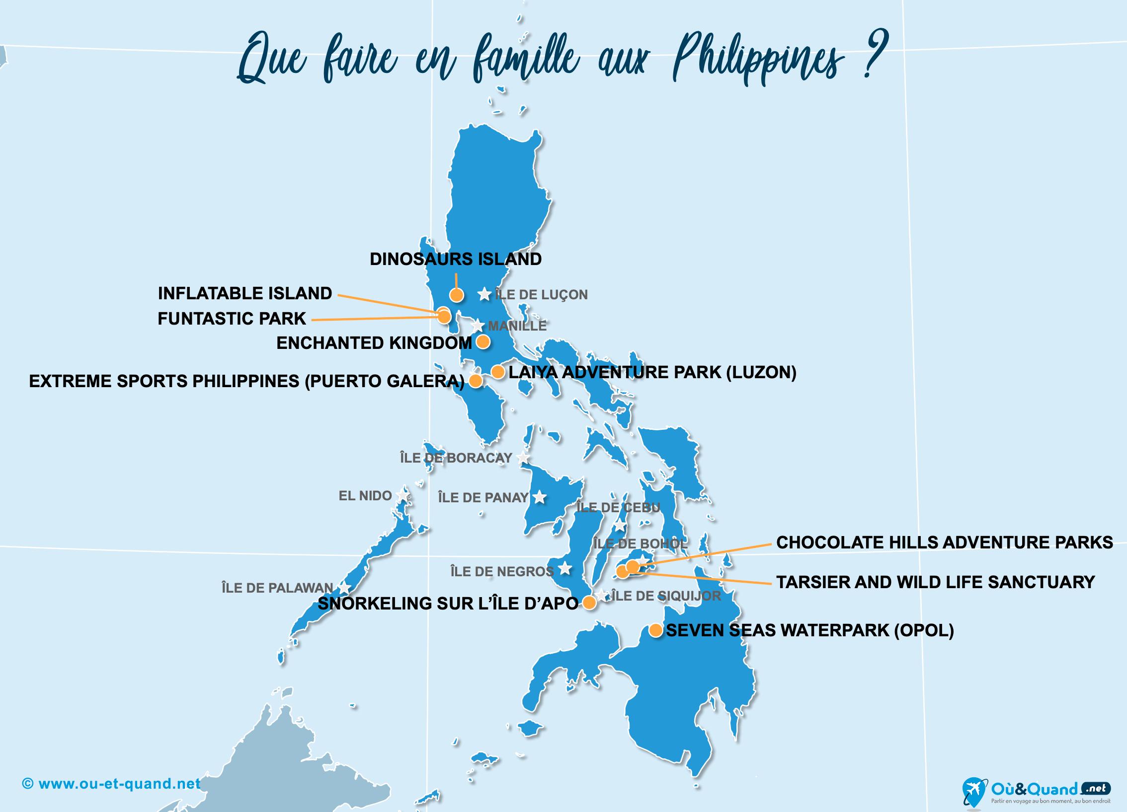Carte Philippines : Les Philippines en famille