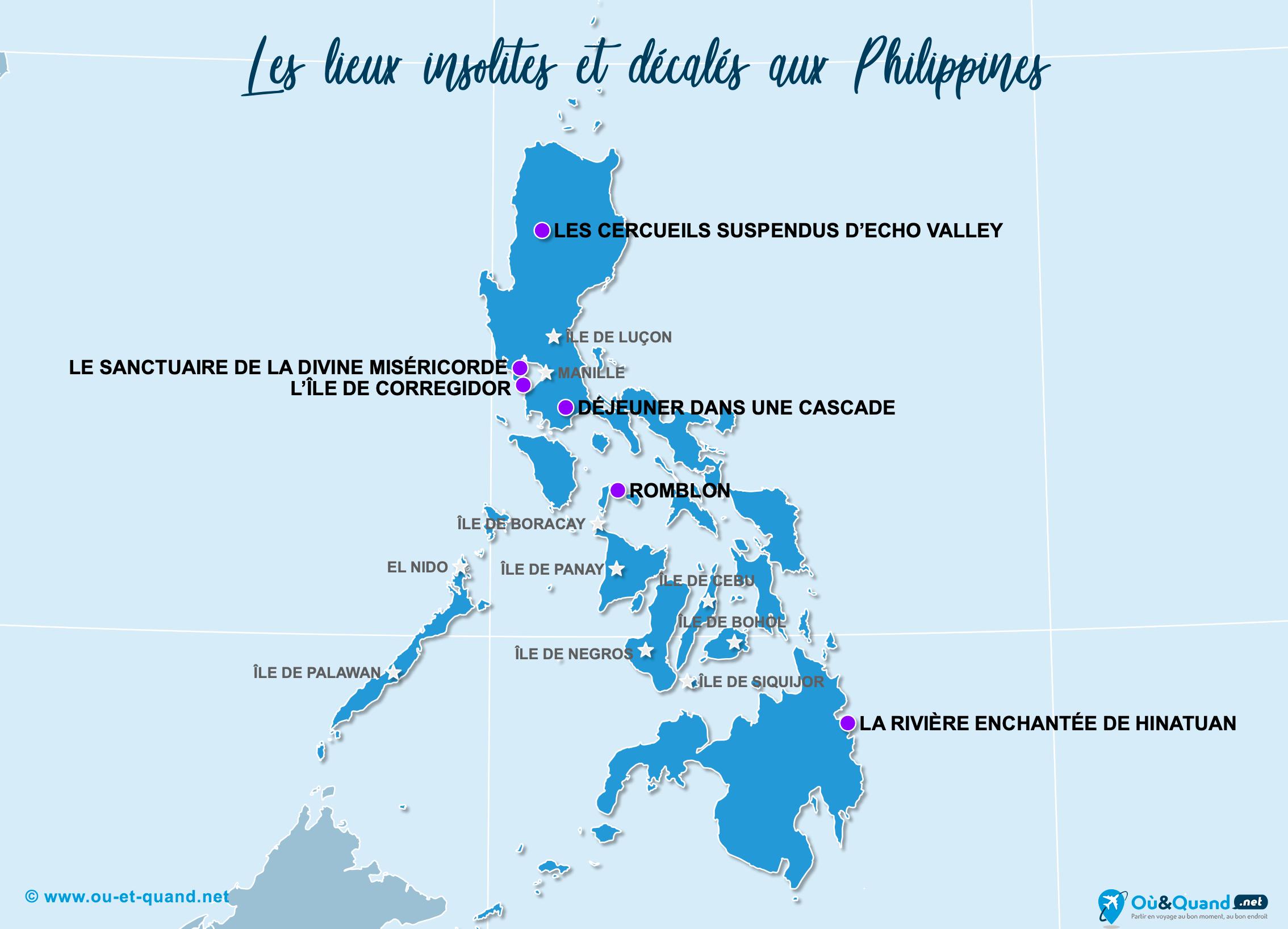 Carte Philippines : Les Philippines insolite