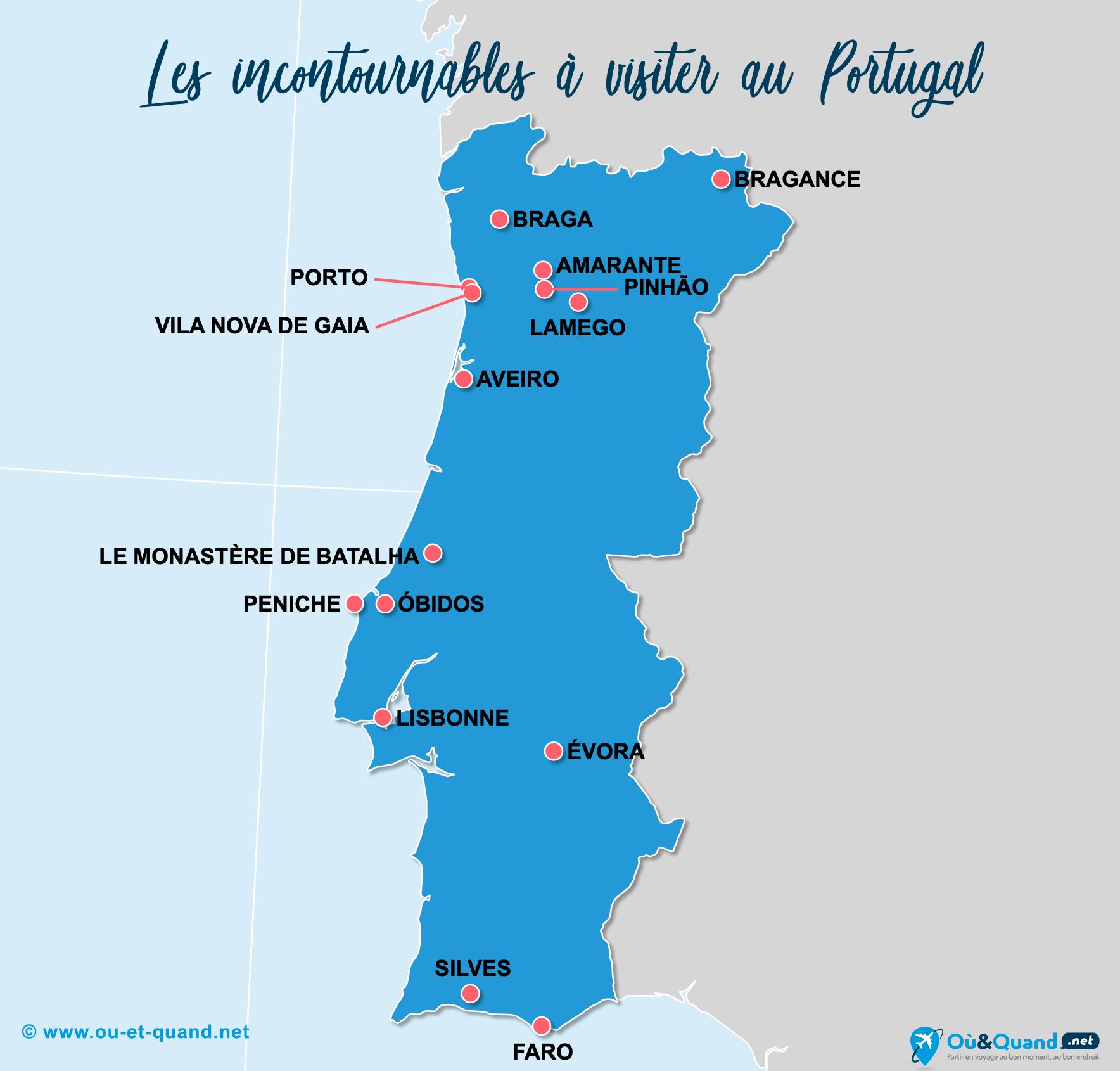 Carte Incontournables Portugal