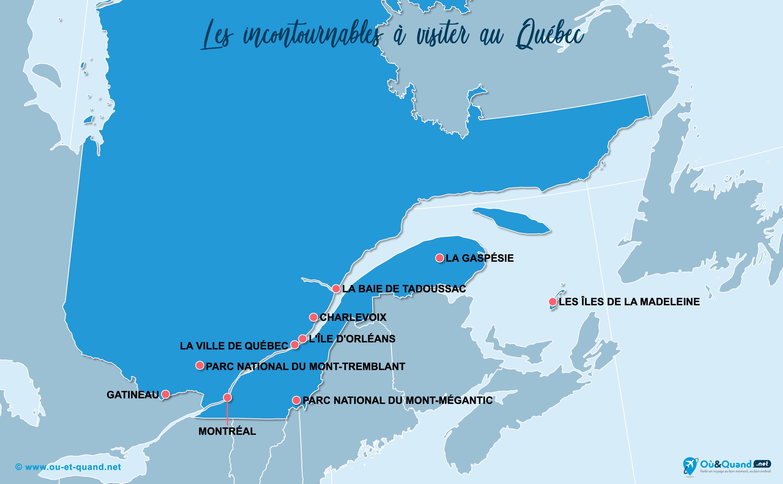 Carte Incontournables Québec