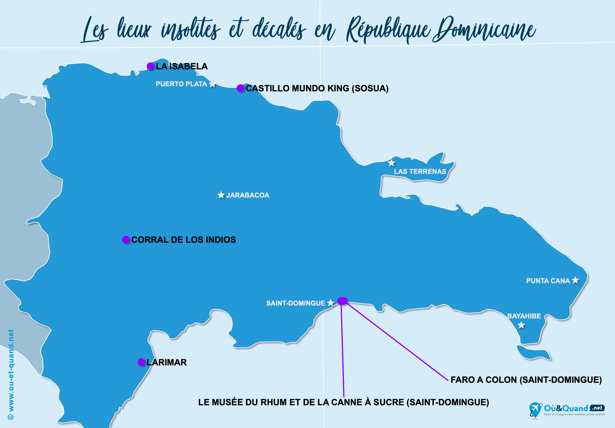 Carte République Dominicaine : La République Dominicaine insolite