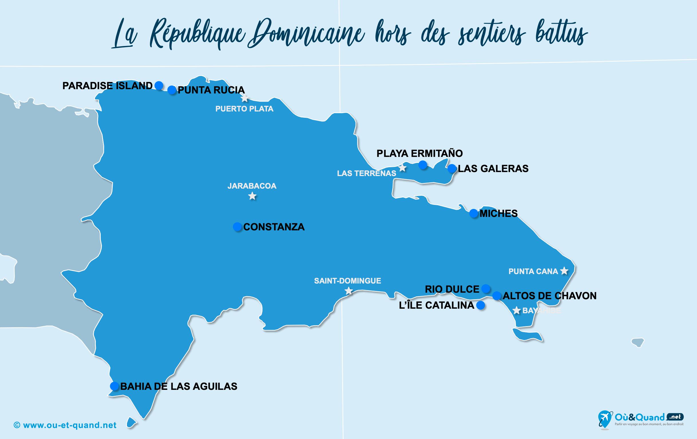 Carte République Dominicaine : La République Dominicaine hors des sentiers battus