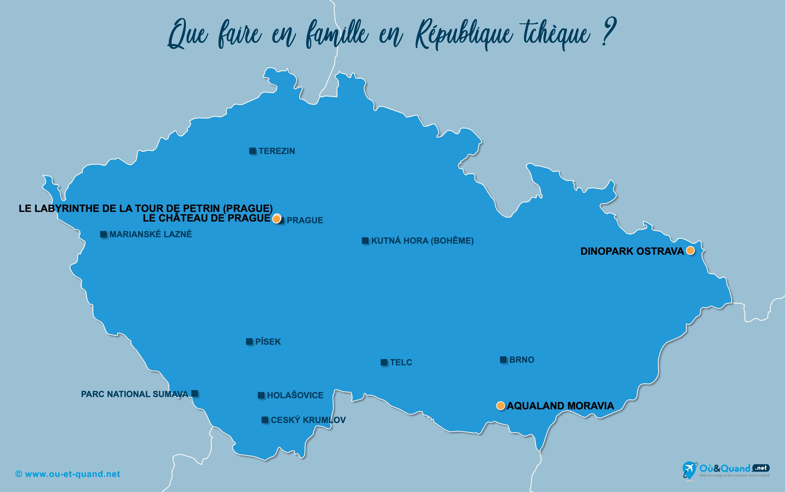 Carte République tchèque : La République tchèque en famille